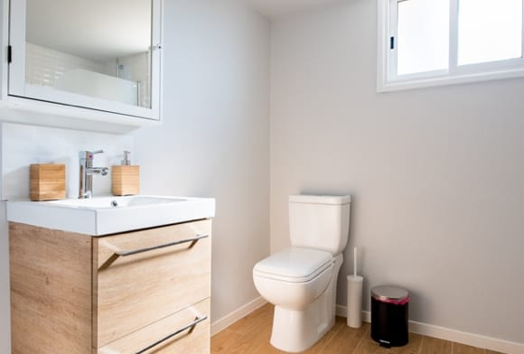 Water efficient toilet at a home in Lancaster, Pa>